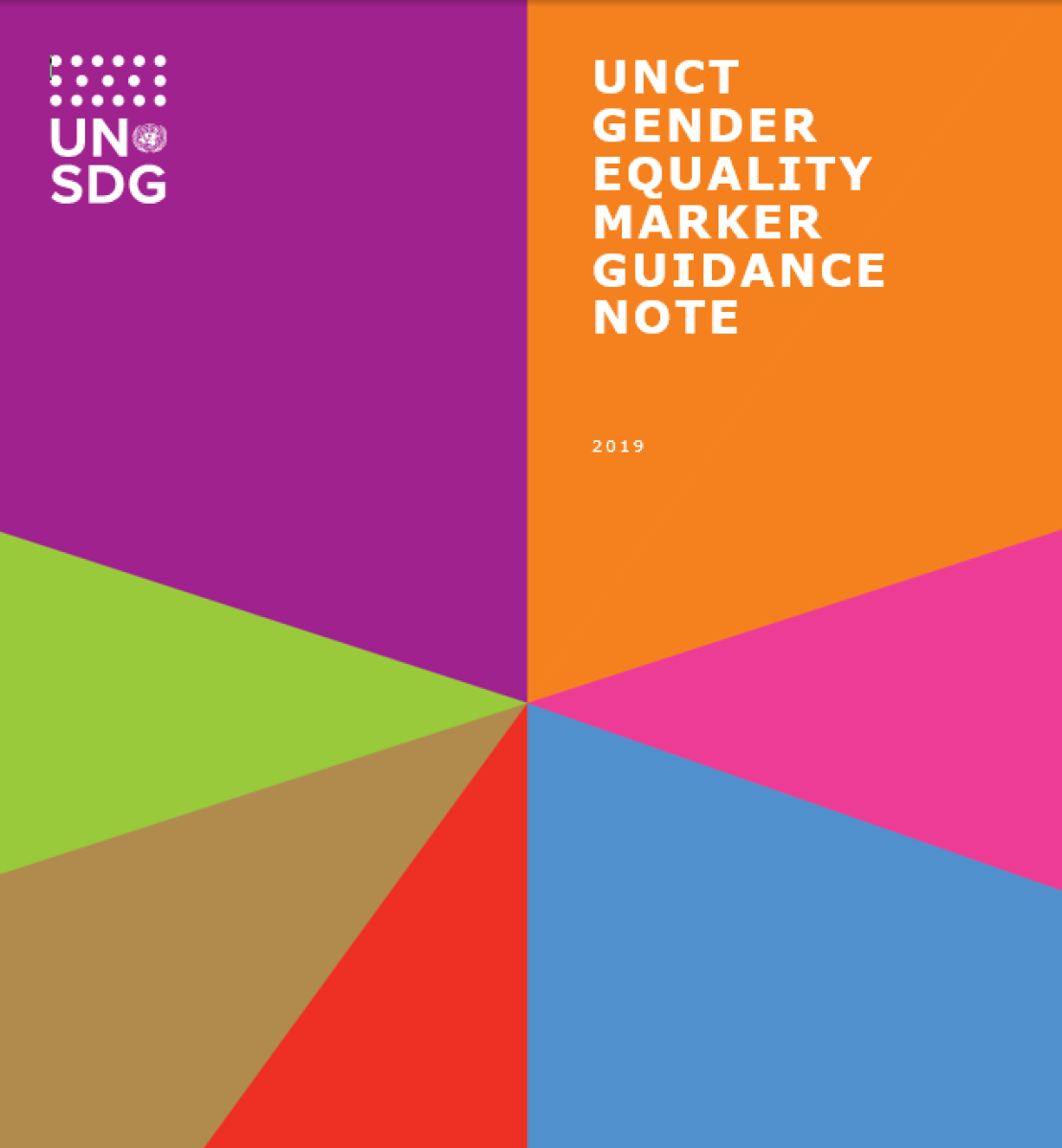 Cover of the UNCT Gender Equality Marker Guidance Note