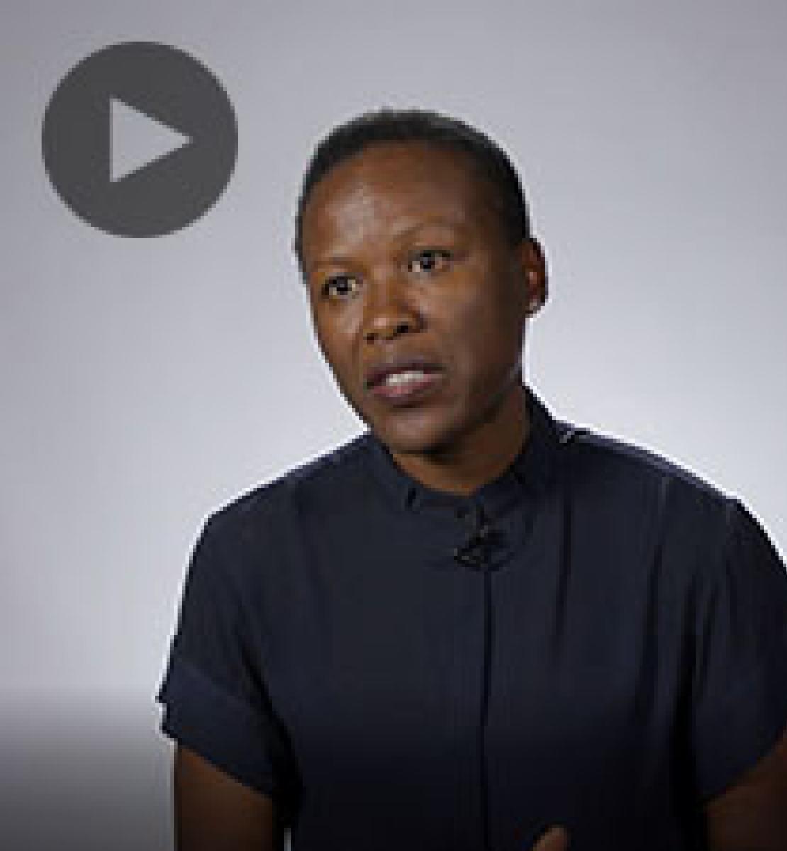 Screenshot from video message shows Resident Coordinator, Susan Namondo-Ngongi