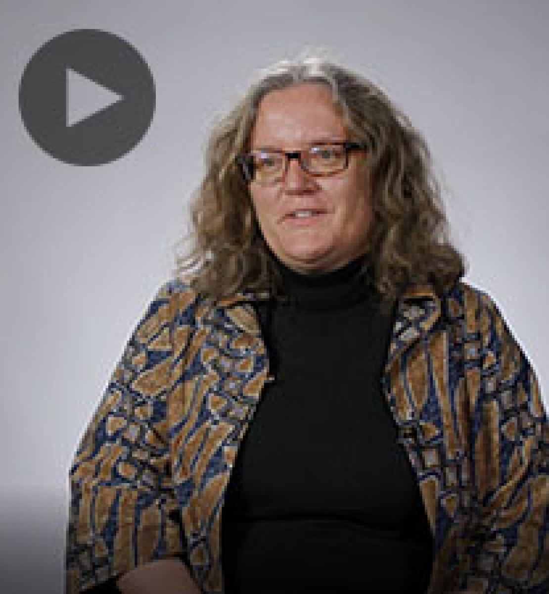 Screenshot from video message shows Resident Coordinator, Sabine Machl