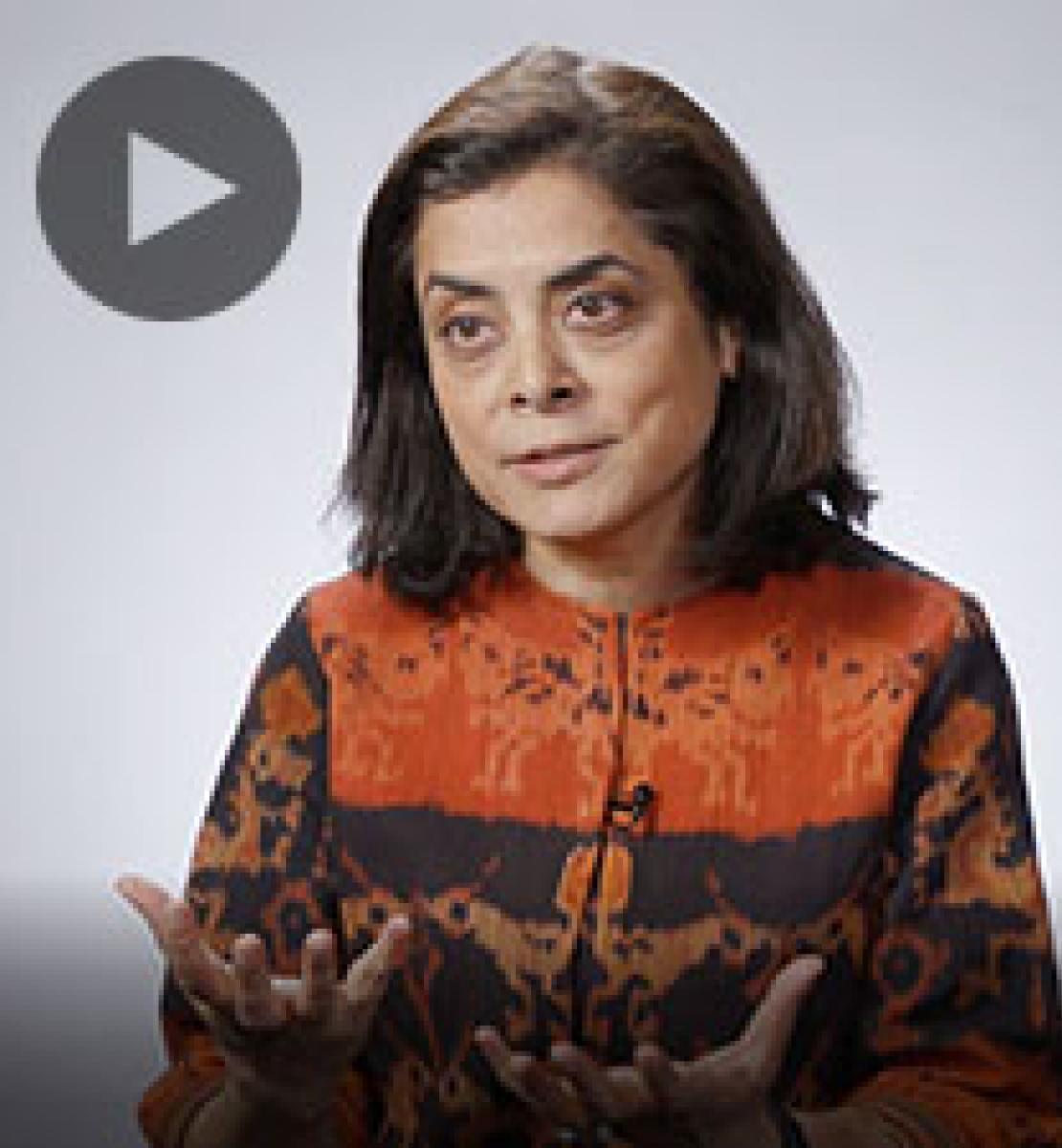 Screenshot from video message shows Resident Coordinator, Anita Nirody