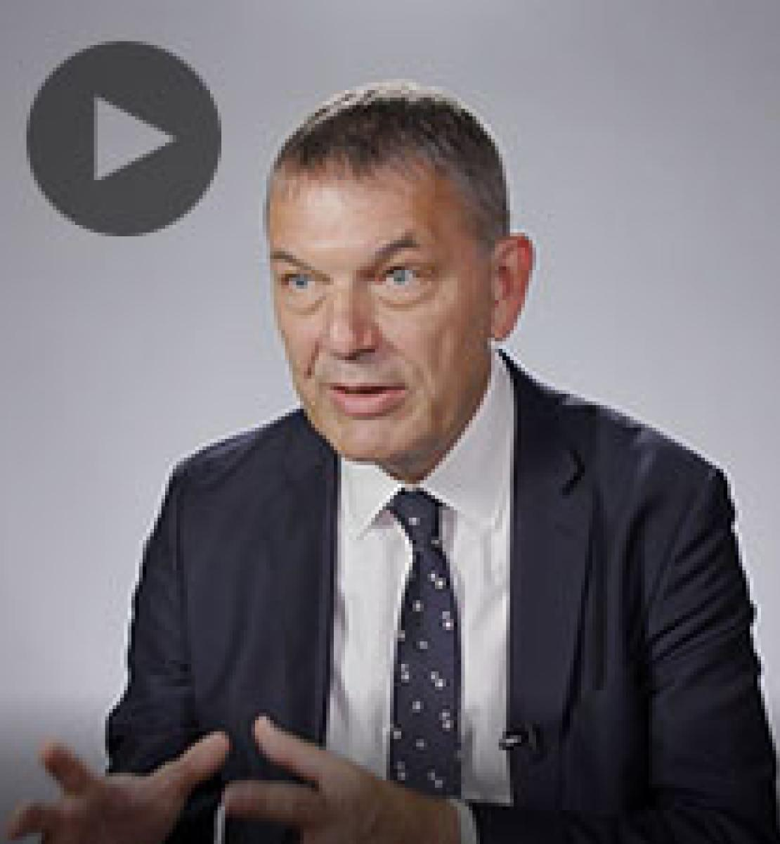 Screenshot from video message shows Resident Coordinator, Phillip Lazzarini
