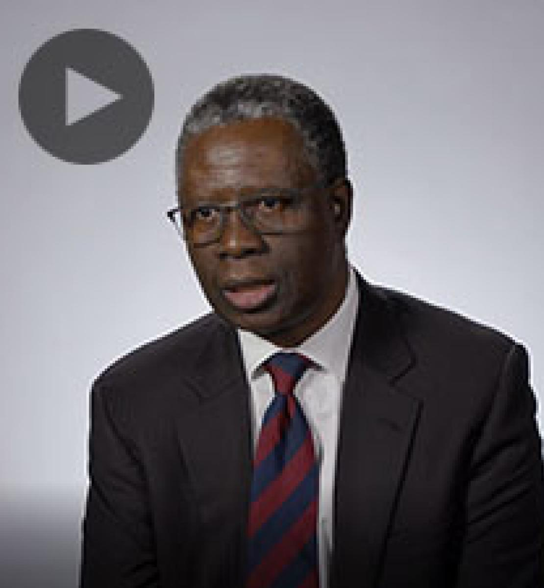 Screenshot from video message shows Resident Coordinator, Fodé Ndiaye