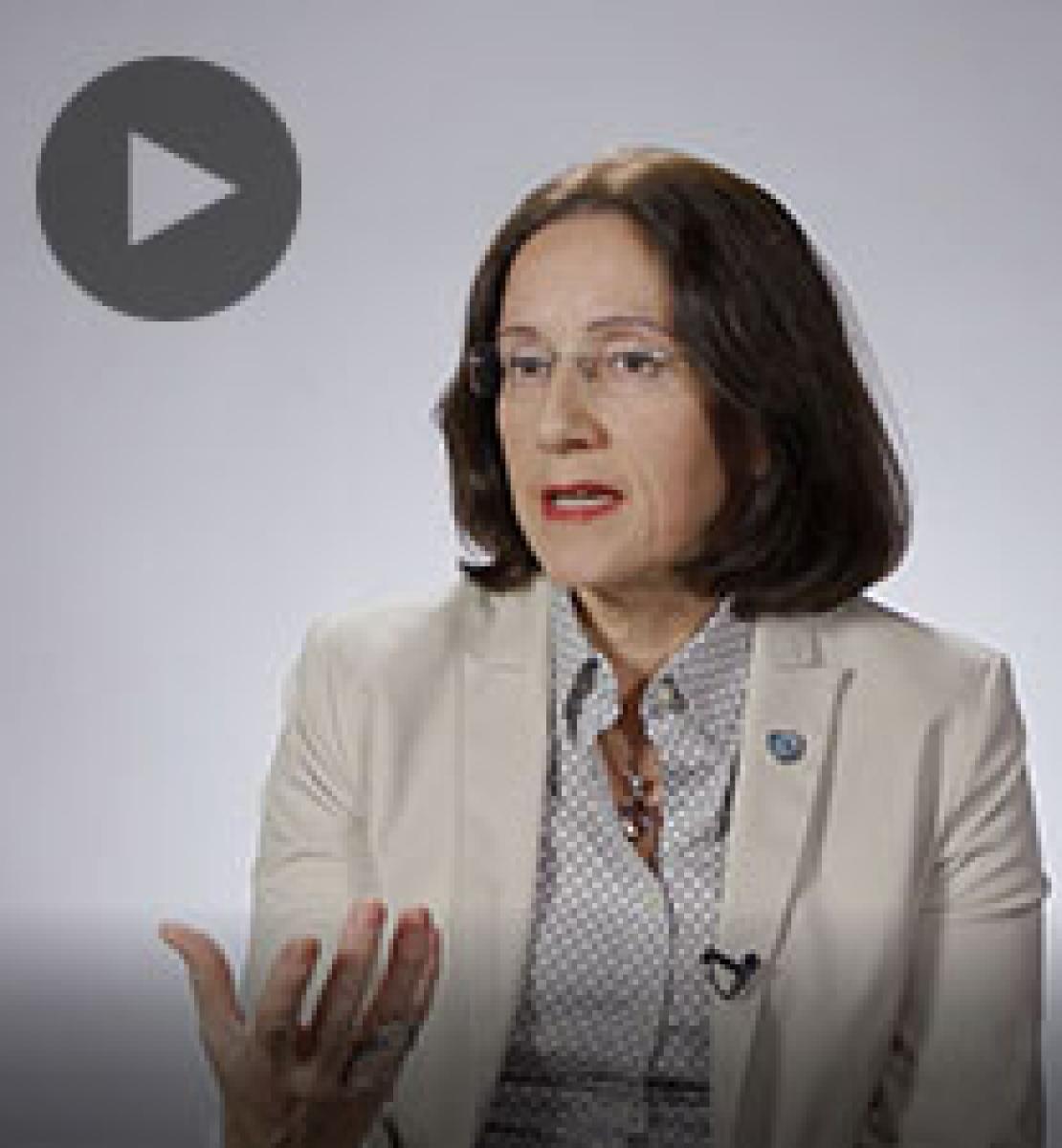 Screenshot from video message shows Resident Coordinator, Marina Walter
