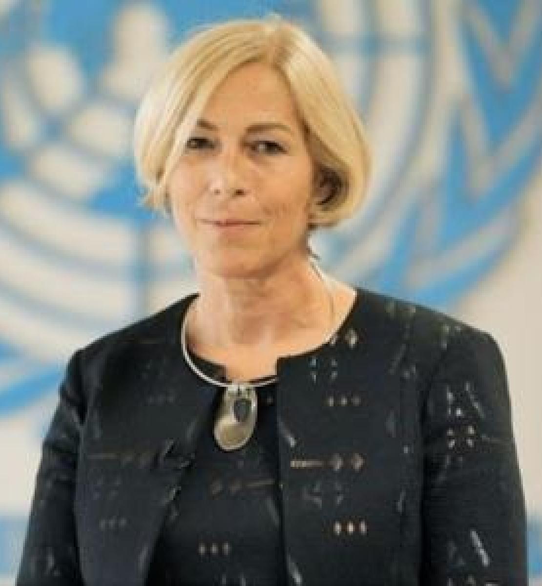 Foto oficial de la nueva Coordinadora Residente designada para Albania, Fiona McCluney.