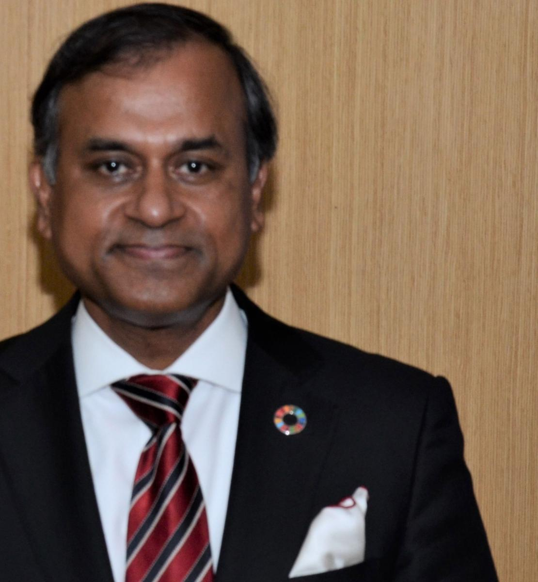 Official photo of the new appointed Resident Coordinator for China, Siddharth Chatterjee.