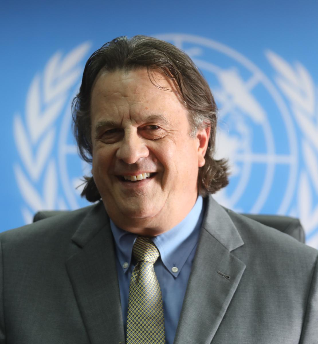 Official photo of the new appointed Resident Coordinator for Yemen, David Gressly.