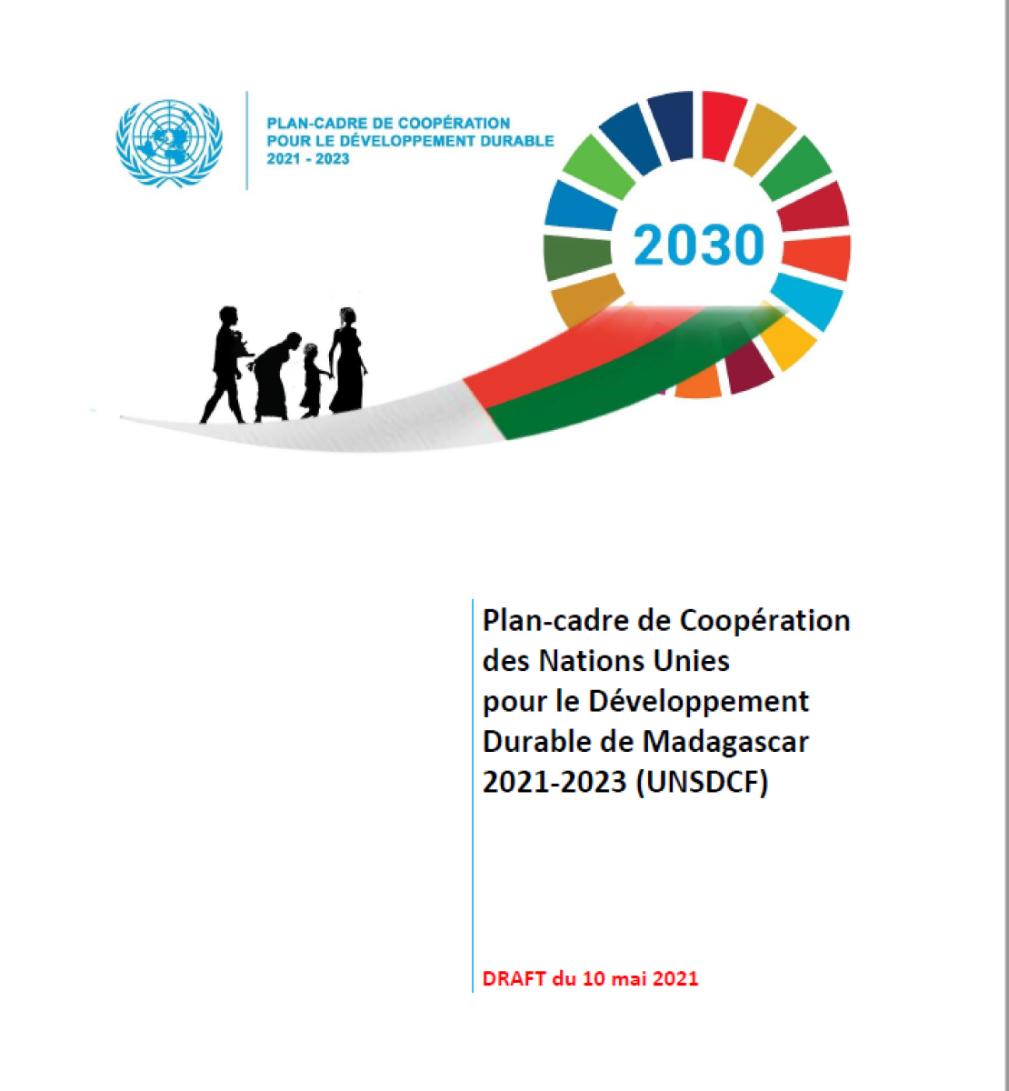 This is a document with a white  background with a blue UN logo to the right and the SDG wheel to the right of the page