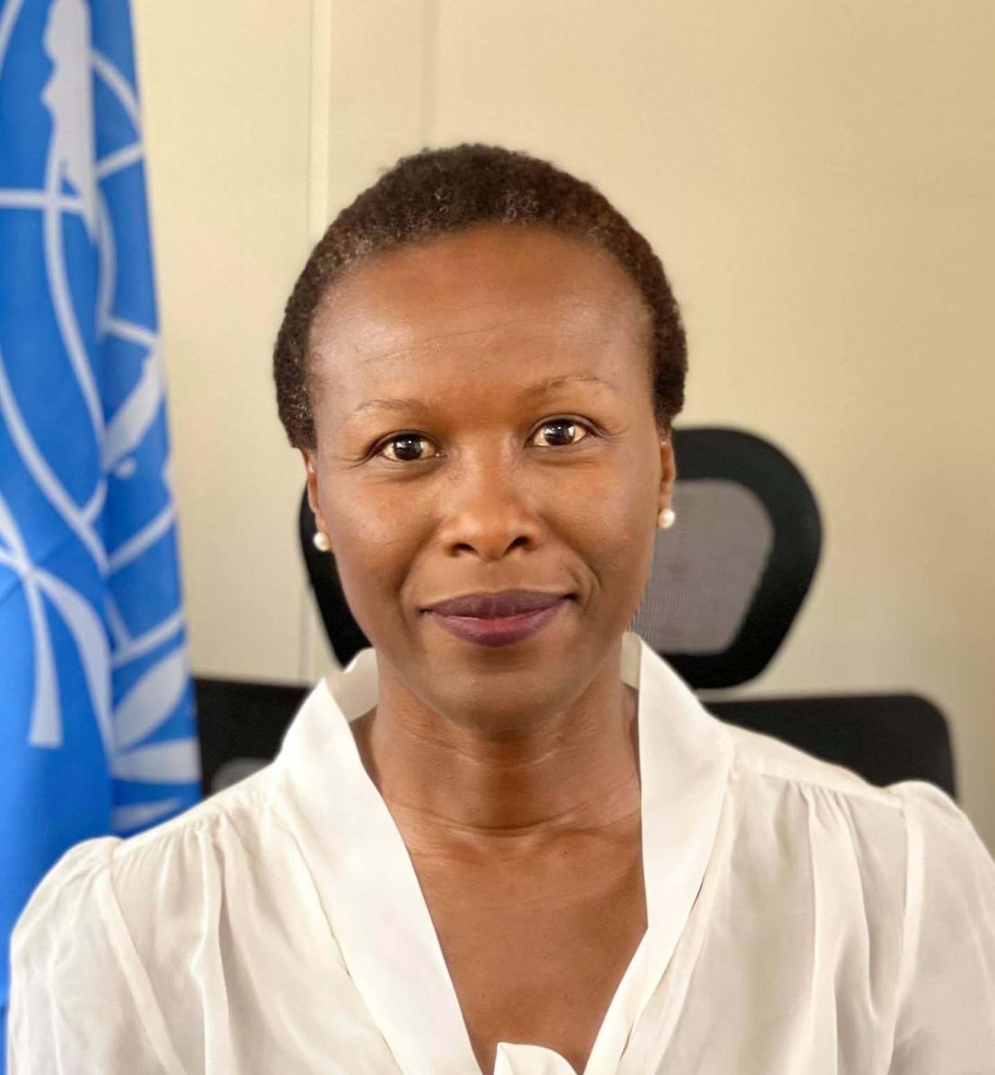 新任命的乌干达驻地协调员苏珊·恩贡吉-纳蒙多的官方照片。