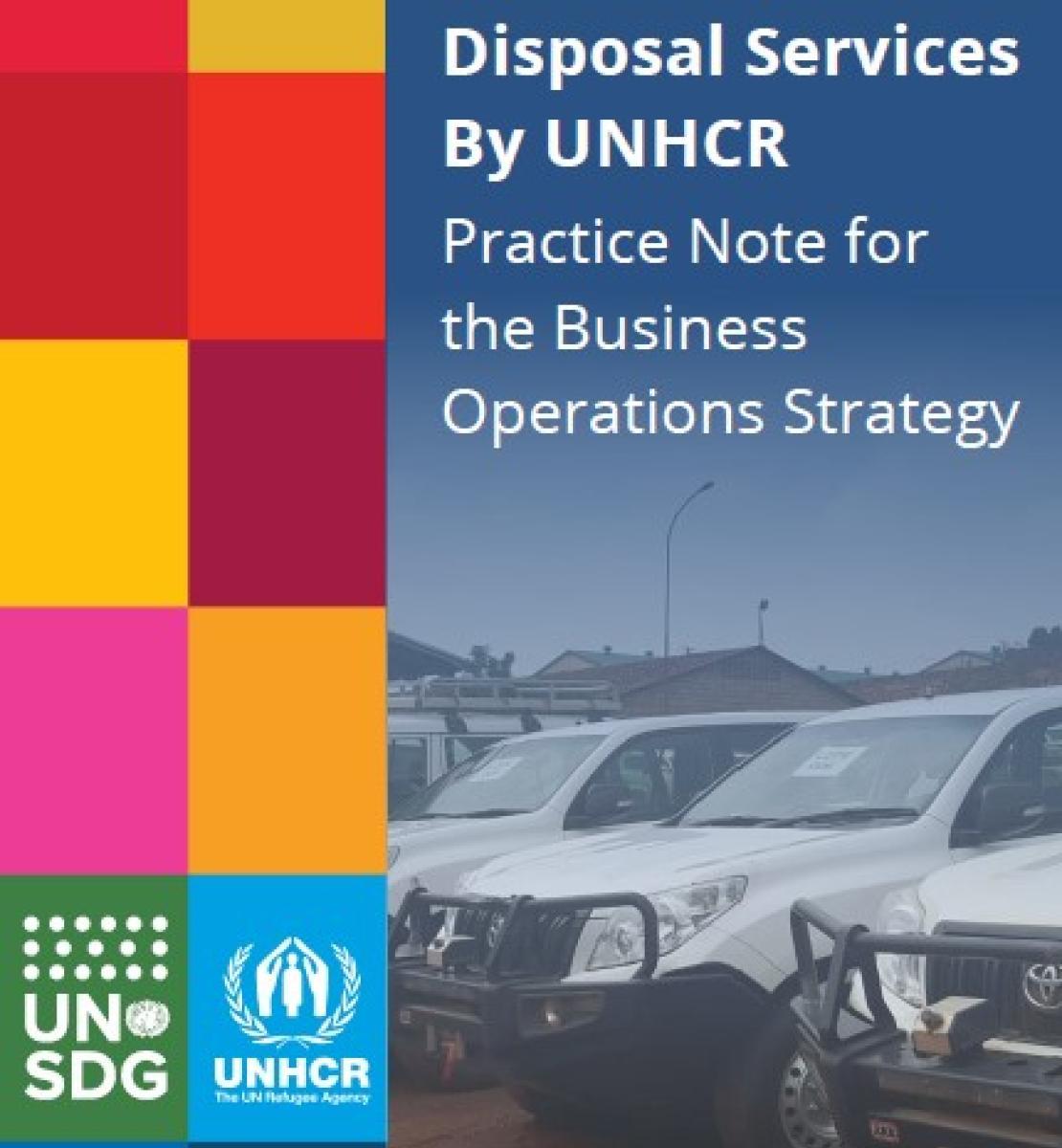سيارات تابعة للأمم المتحدة متوقفة في الهواء الطلق. عنوان مذكرة الممارسة خدمات الأمم المتحدة المشتركة للاستعمال مرة واحدة