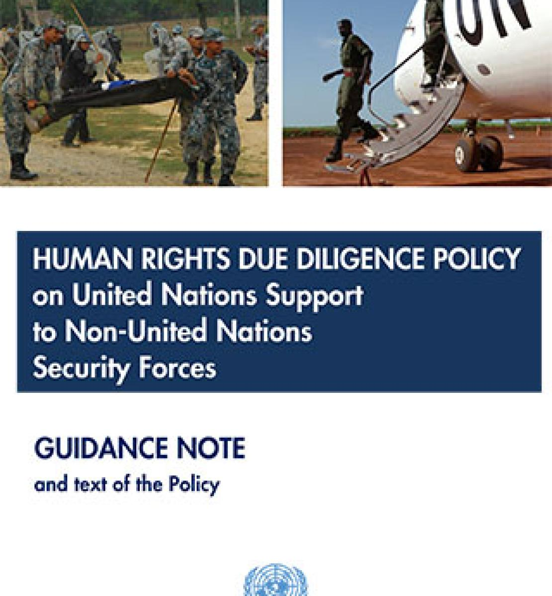 Note d'orientation sur la politique de diligence voulue en matière de droits de l'homme en cas d'appui de l'ONU à des forces de sécurité non onusiennes