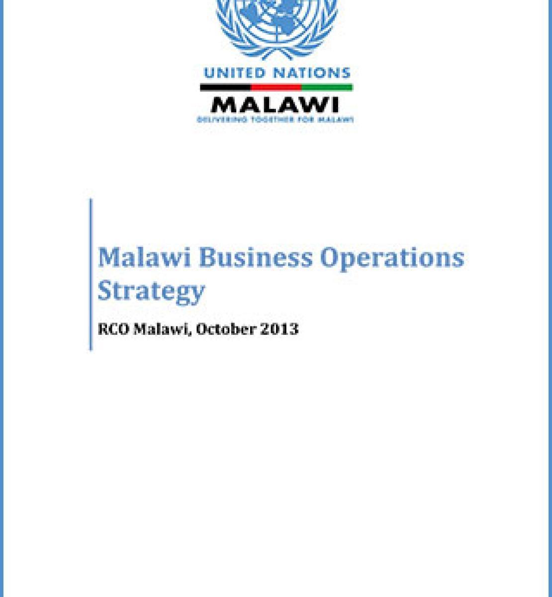 Estrategia de Operaciones Institucionales de la ONU para Malawi 2013-2017