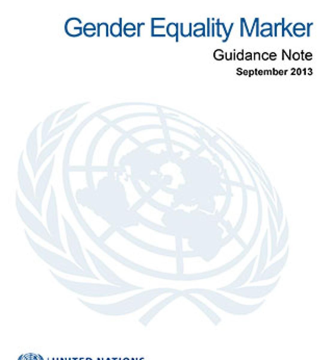 Marcador de igualdad de género - Nota orientativa